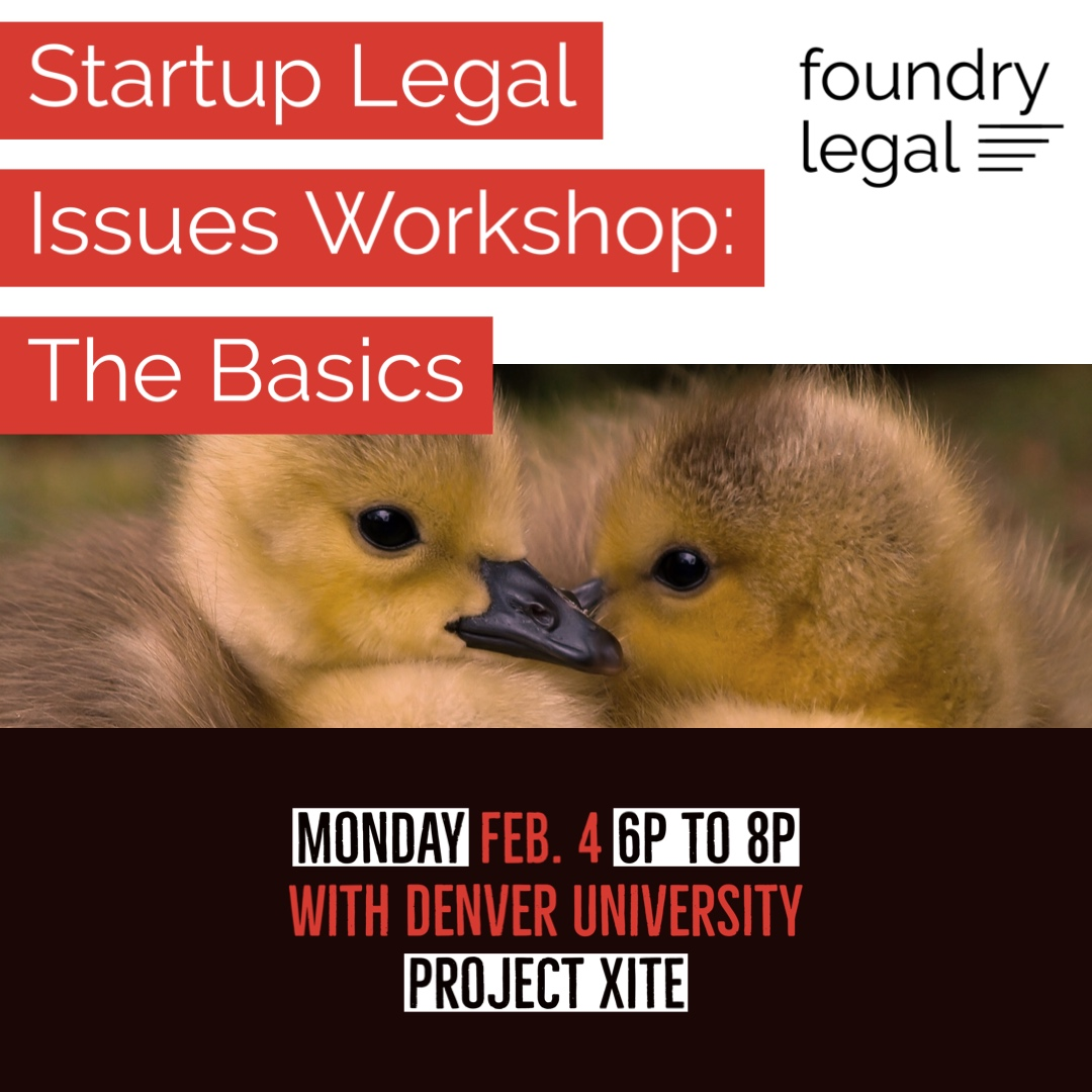 Startup Law 101 @ Denver University